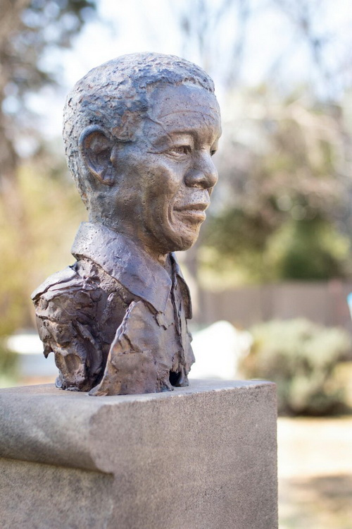 Mandela At The Union Buildings